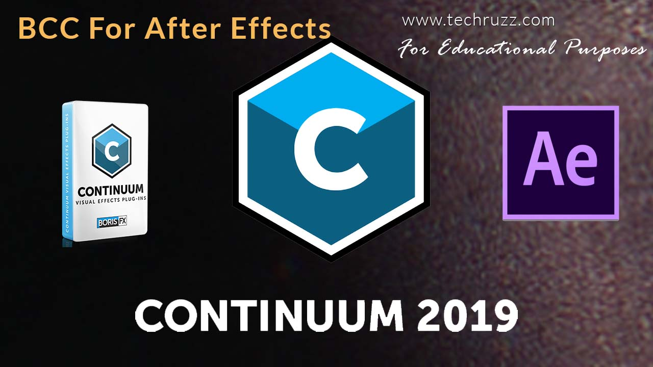 How To Get BCC 2019 For Adobe After Effects CC 2019