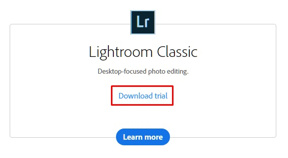 adobe lightroom download free trial